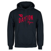 Navy Fleece Hoodie-Dayton Flyers Wave Design