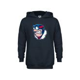Youth Navy Fleece Hoodie-Mascot