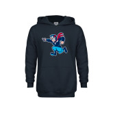 Youth Navy Fleece Hoodie-Full Mascot