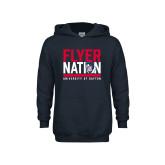 Youth Navy Fleece Hoodie-Flyer Nation
