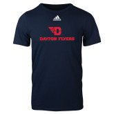 Adidas Navy Logo T Shirt-Dayton Flyers