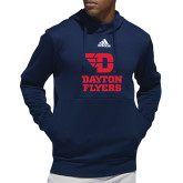 Adidas Navy Team Issue Hoodie-Dayton Flyers Stacked