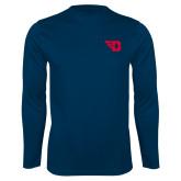 Performance Navy Longsleeve Shirt-Flying D