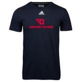 Adidas Climalite Navy Ultimate Performance Tee-Dayton Flyers