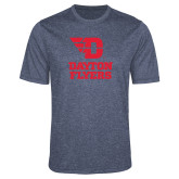 Performance Navy Heather Contender Tee-Dayton Flyers Stacked