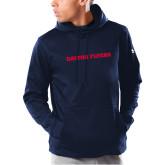 Under Armour Navy Armour Fleece Hoodie-Athletics Wordmark