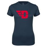 Ladies Syntrel Performance Navy Tee-Flying D