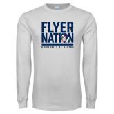 White Long Sleeve T Shirt-Flyer Nation