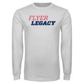 White Long Sleeve T Shirt-Flyer Legacy