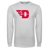 White Long Sleeve T Shirt-Flying D