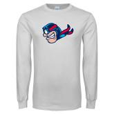 White Long Sleeve T Shirt-Mascot Profile