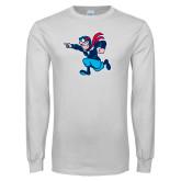 White Long Sleeve T Shirt-Full Mascot