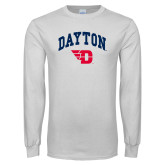 White Long Sleeve T Shirt-Arched Dayton