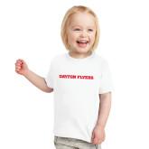 Toddler White T Shirt-Athletics Wordmark