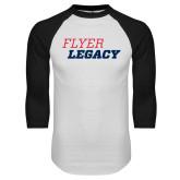 White/Black Raglan Baseball T Shirt-Flyer Legacy