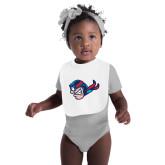 White Baby Bib-Mascot Head