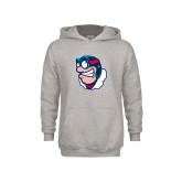 Youth Grey Fleece Hood-Mascot