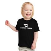 Toddler Black T Shirt-Dayton Flyers