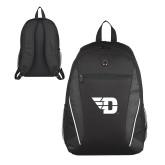 Atlas Black Computer Backpack-Flying D