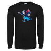 Black Long Sleeve T Shirt-Full Mascot