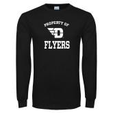 Black Long Sleeve T Shirt-Property of Dayton Flyers