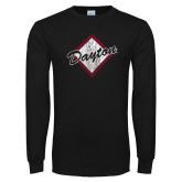 Black Long Sleeve T Shirt-Distressed Dayton