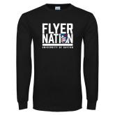 Black Long Sleeve T Shirt-Flyer Nation