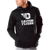 Under Armour Black Armour Fleece Hoodie-Dayton Flyers Stacked