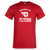 Red T Shirt-Property of Dayton Flyers
