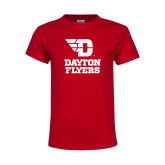 Youth Red T Shirt-Dayton Flyers Stacked