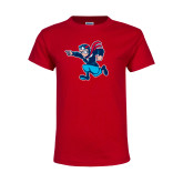 Youth Red T Shirt-Full Mascot
