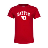 Youth Red T Shirt-Arched Dayton