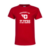 Youth Red T Shirt-Property of Dayton Flyers