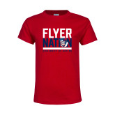Youth Red T Shirt-Flyer Nation