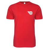 Next Level SoftStyle Red T Shirt-Flying D