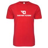Next Level SoftStyle Red T Shirt-Dayton Flyers