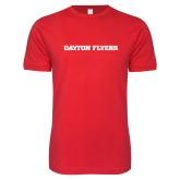 Next Level SoftStyle Red T Shirt-Athletics Wordmark
