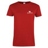 Ladies Red T Shirt-Dayton Flyers