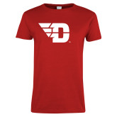 Ladies Red T Shirt-Flying D