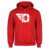 Red Fleece Hoodie-Flying D