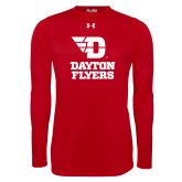 Under Armour Red Long Sleeve Tech Tee-Dayton Flyers Stacked