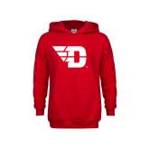 Youth Red Fleece Hoodie-Flying D