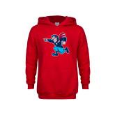Youth Red Fleece Hoodie-Full Mascot