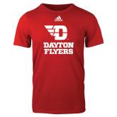 Adidas Red Logo T Shirt-Dayton Flyers Stacked