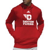Adidas Red Team Issue Hoodie-Dayton Flyers Stacked