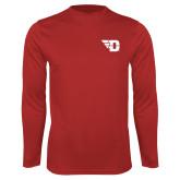 Performance Red Longsleeve Shirt-Flying D