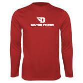 Performance Red Longsleeve Shirt-Dayton Flyers