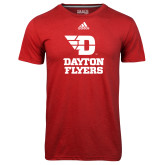 Adidas Climalite Red Ultimate Performance Tee-Dayton Flyers Stacked
