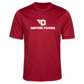 Performance Red Heather Contender Tee-Dayton Flyers