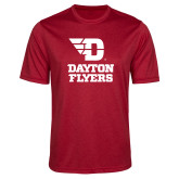 Performance Red Heather Contender Tee-Dayton Flyers Stacked
